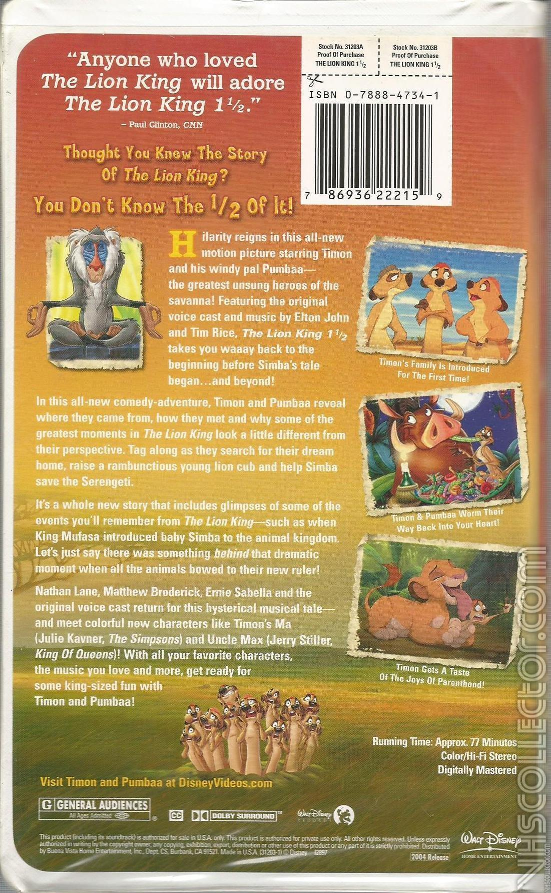 The Lion King 1 12 2004