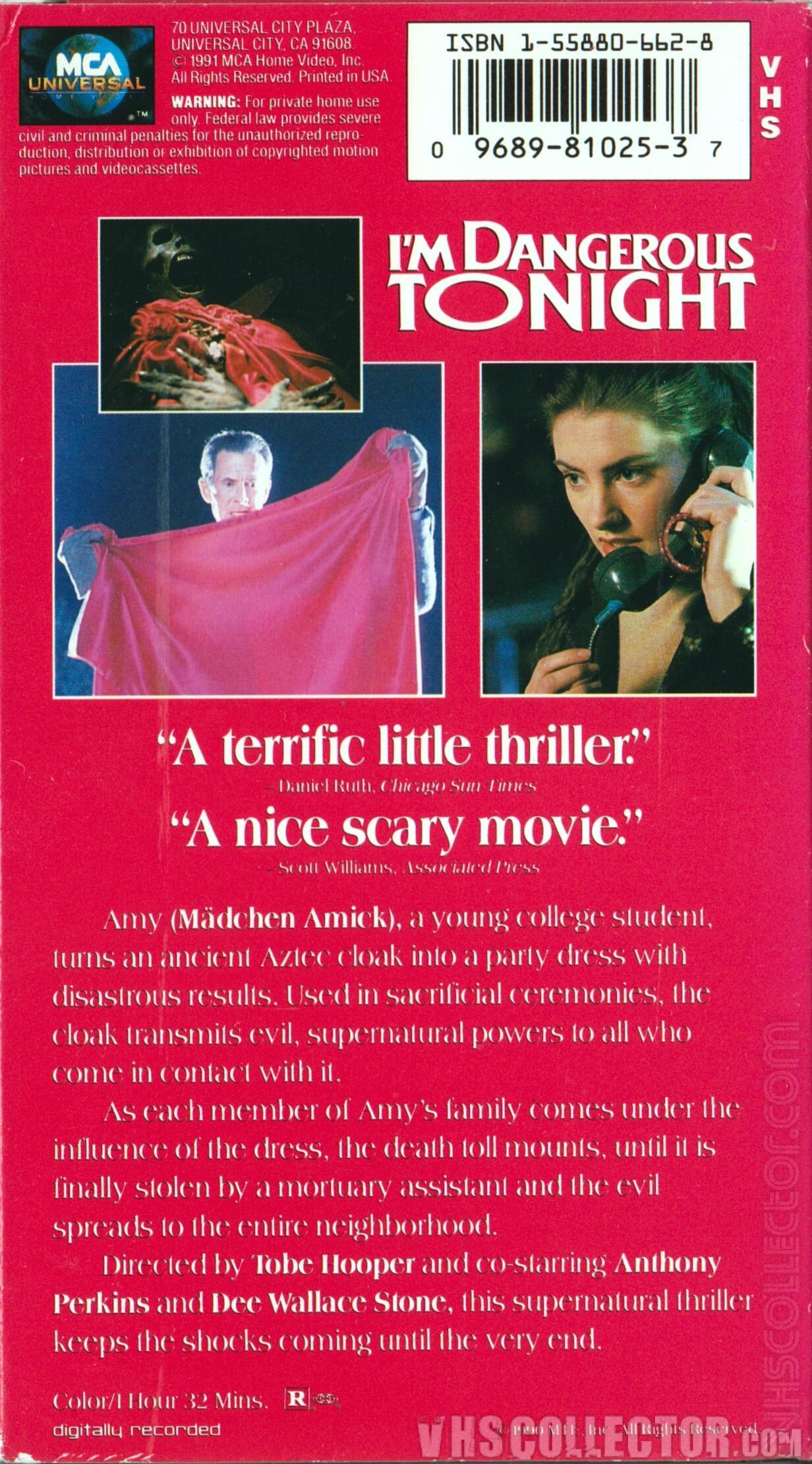 I'm Dangerous Tonight | VHSCollector.com