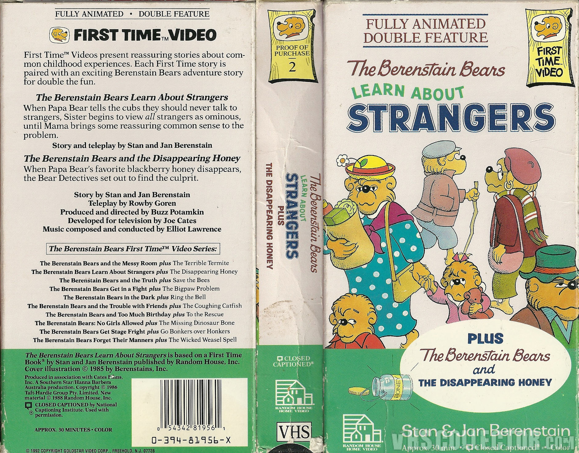 The Berenstain Bears Learn About Strangers Vhscollector Com