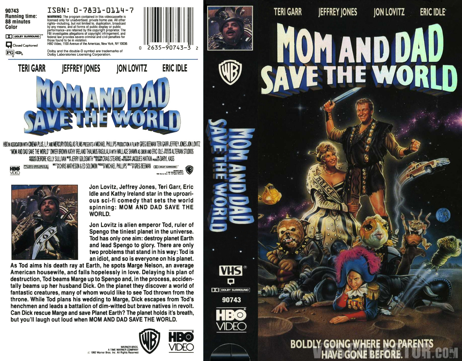 Mom and Dad Save the World VHS 1992 HBO Video Teri Garr ...