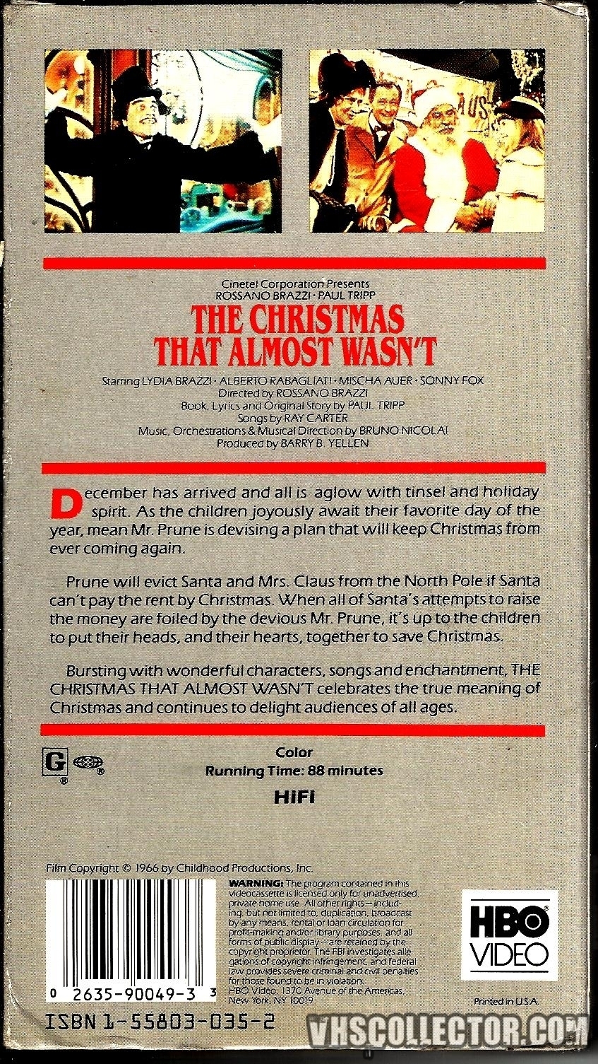Almost Christmas Means It Wasnt Christmas.The Christmas That Almost Wasn T Vhscollector Com