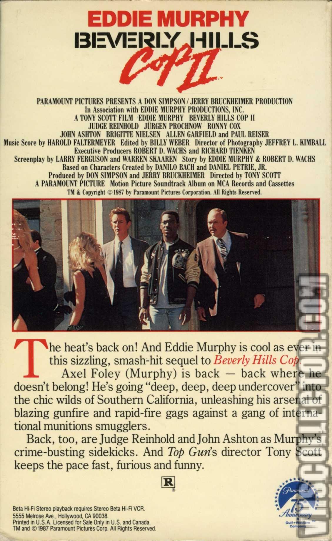 Beverly Hills Cop Ii Vhscollector Com