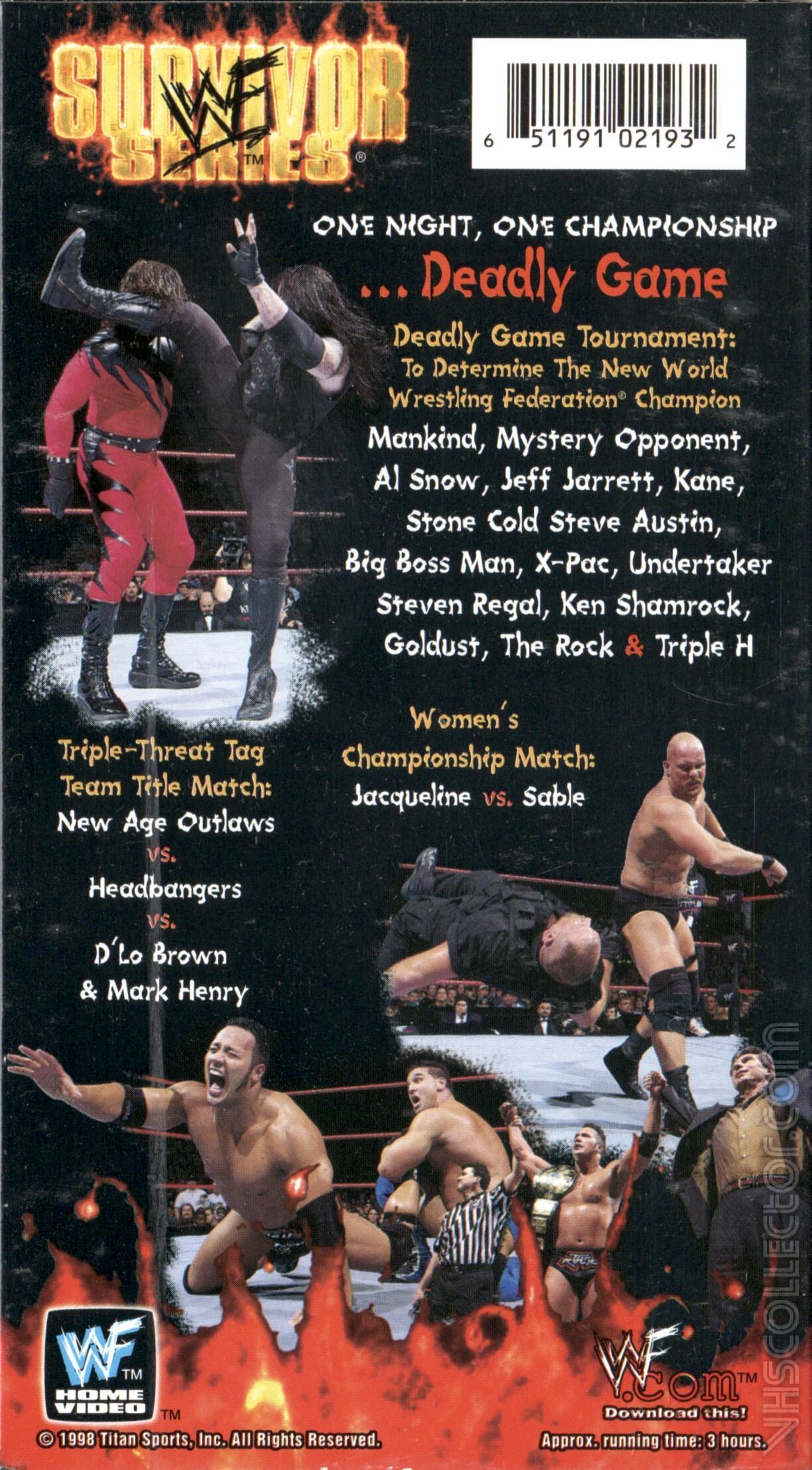 WWF Survivor Series (1998) | VHSCollector com