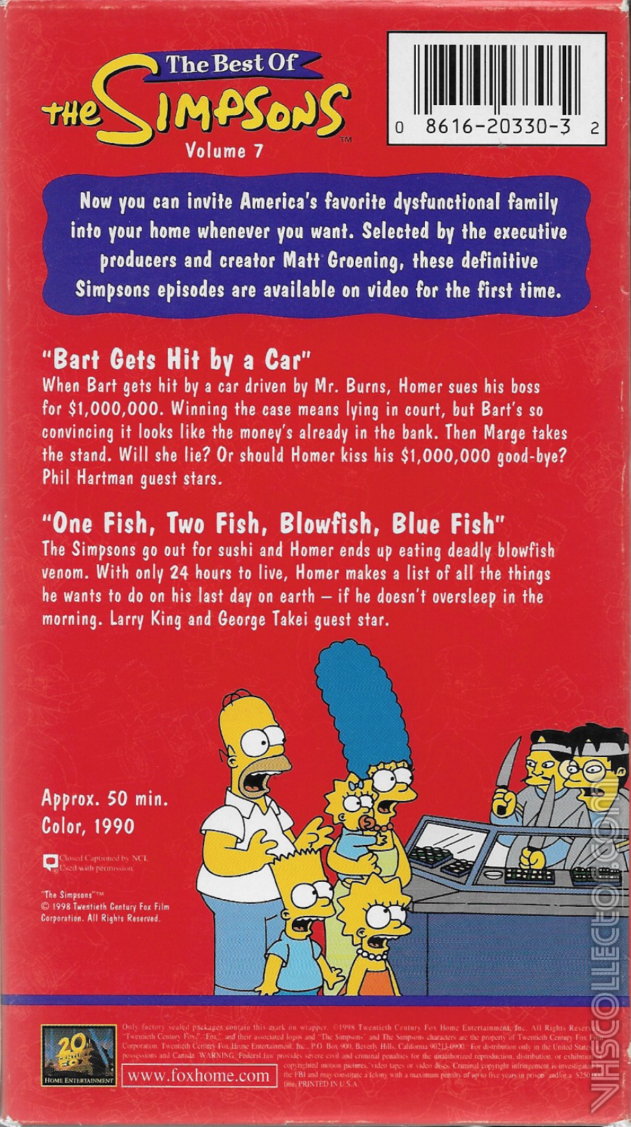 The Best Of The Simpsons Volume 7 Vhscollector Com