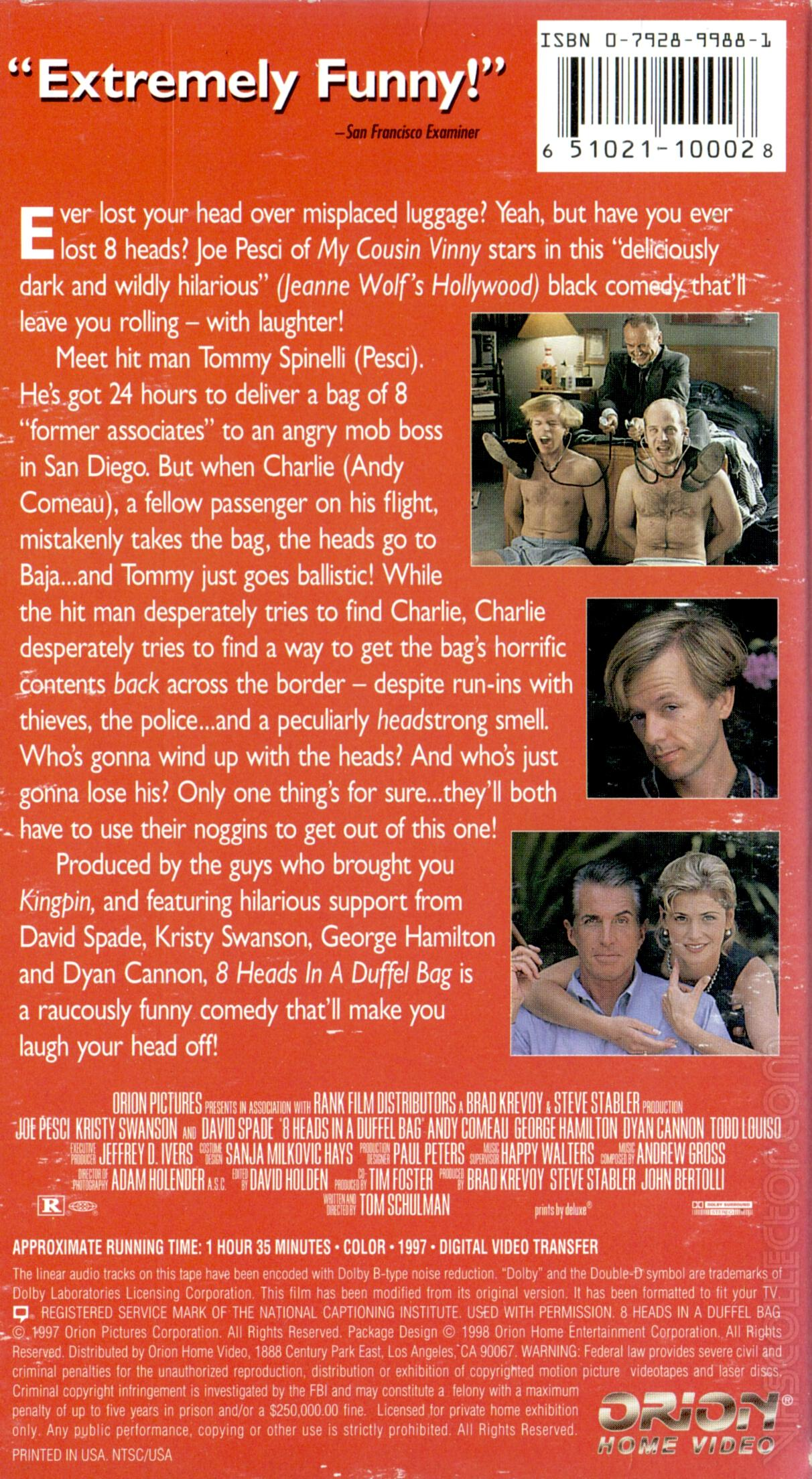 REVIEW - '8 Heads in a Duffel Bag' (1997) - The Movie Buff
