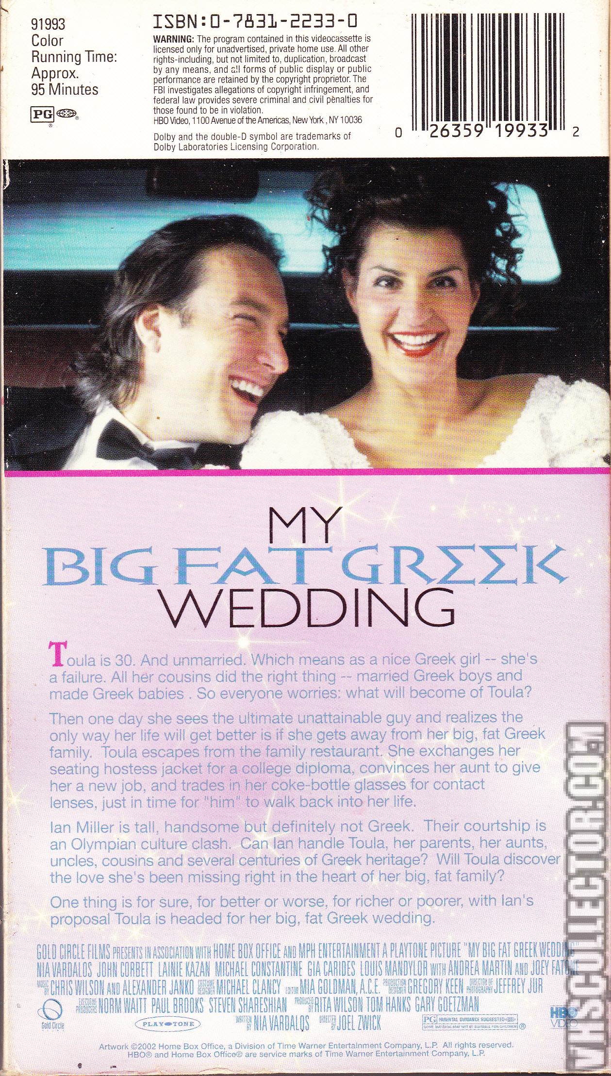 My Big Fat Greek Wedding Vhscollector Com