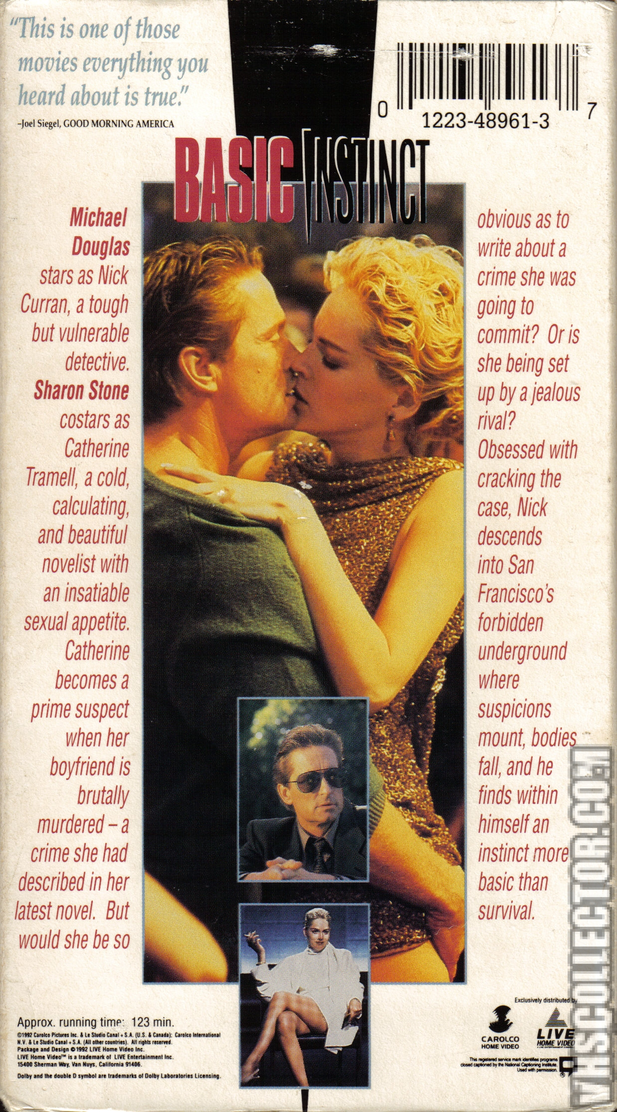 Animal Instincts 1992 Video basic instinct | vhscollector