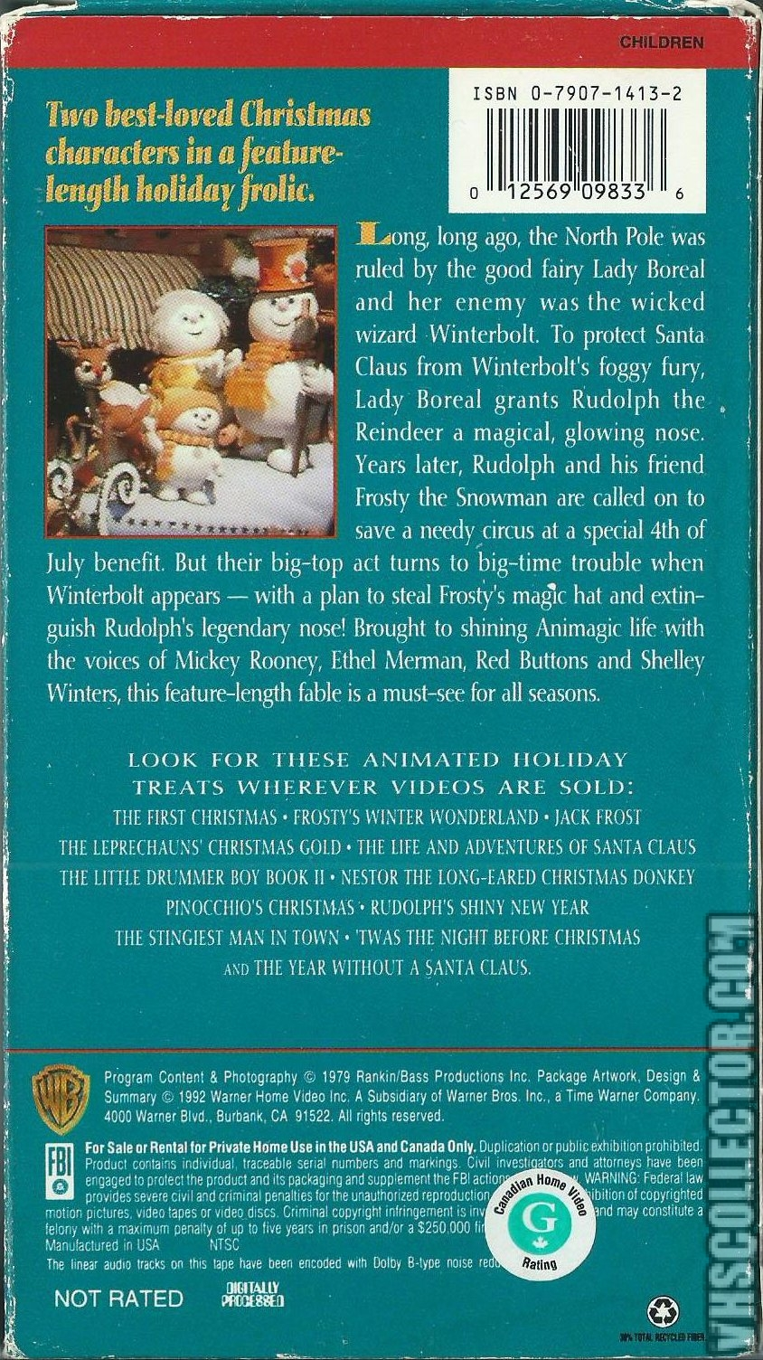 Rudolph And Frostys Christmas In July.Rudolph And Frosty S Christmas In July Vhscollector Com