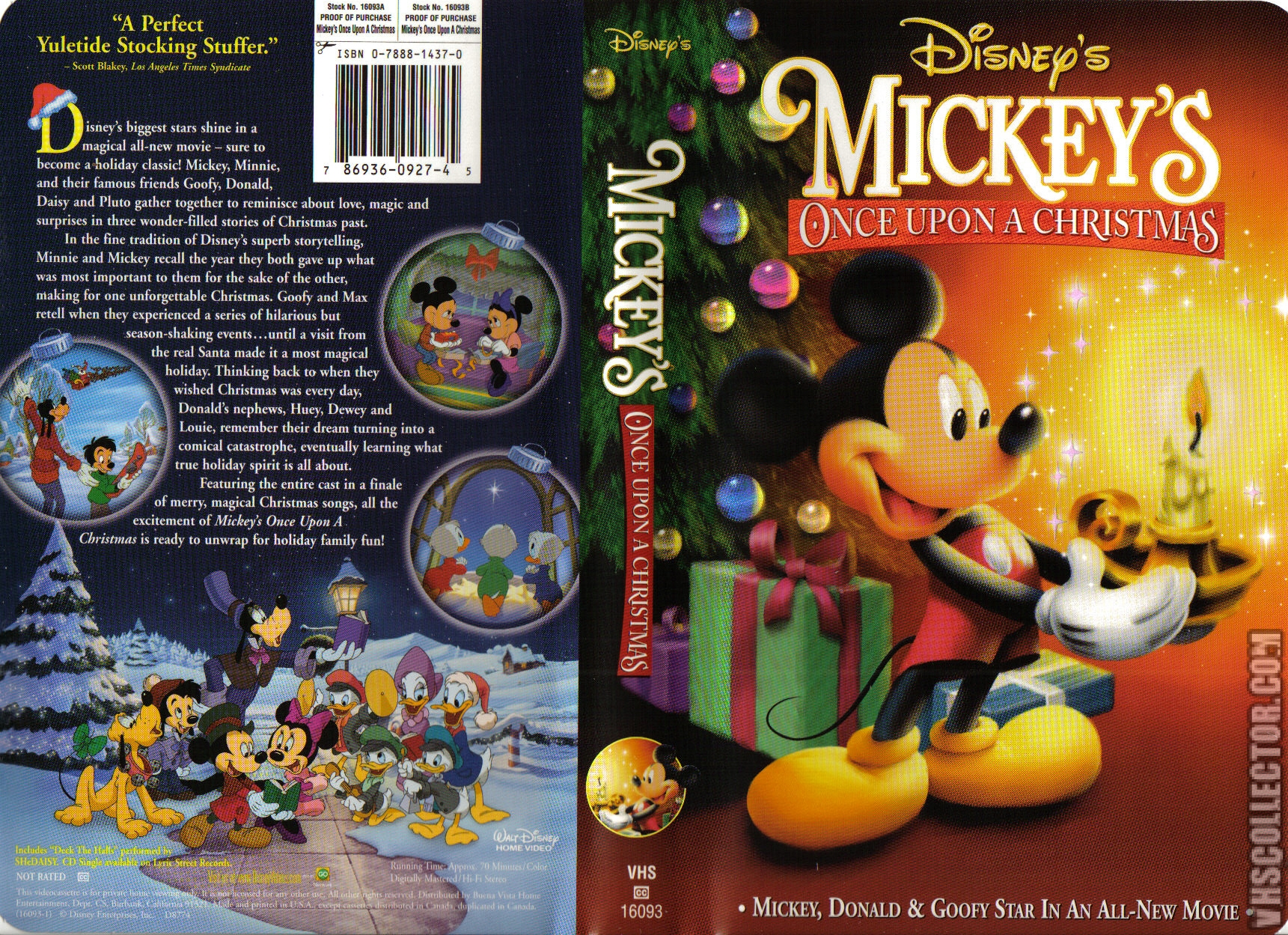Mickey S Once Upon A Christmas Vhscollector Com