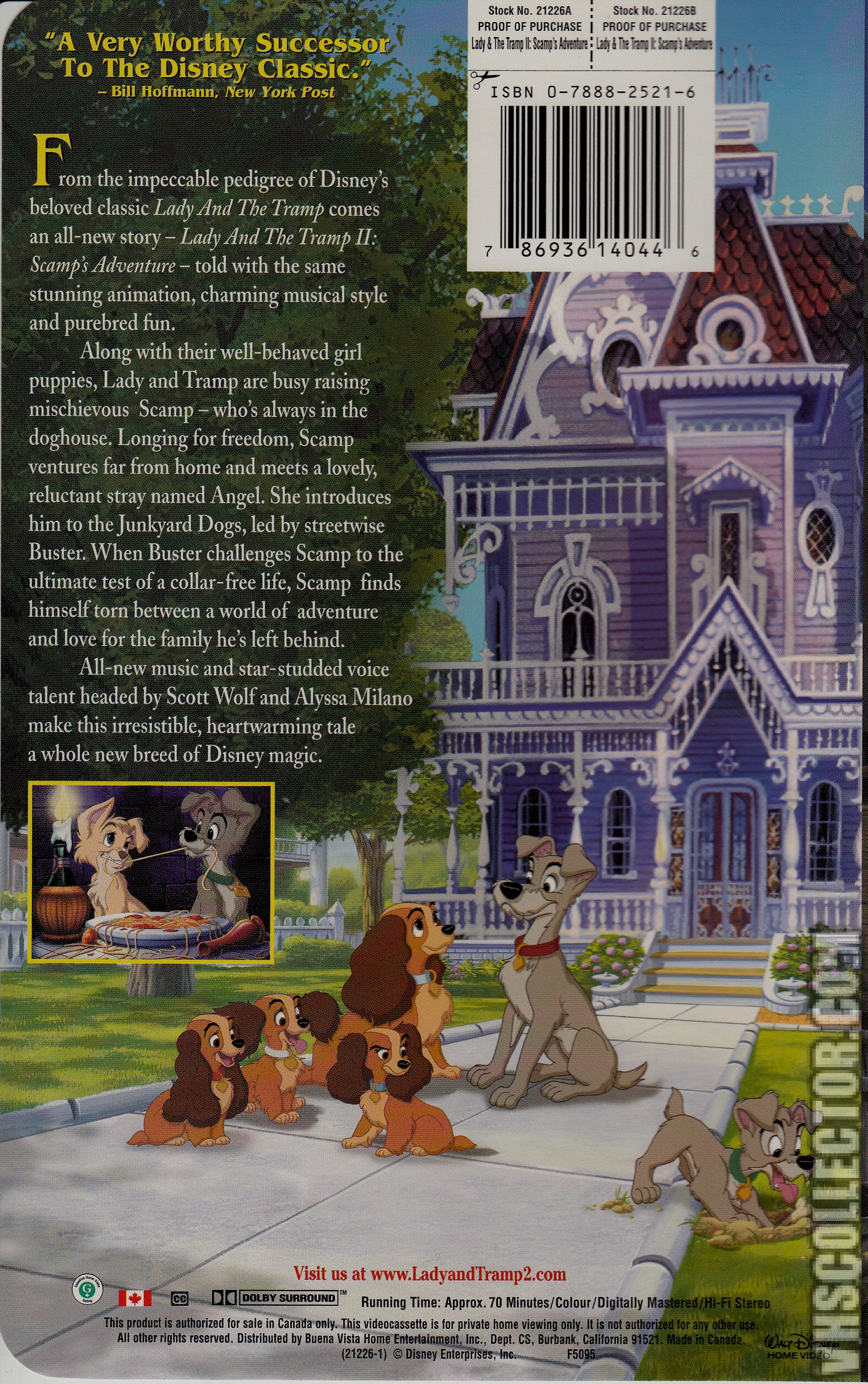 Lady And The Tramp Ii Scamp S Adventure Vhscollector Com