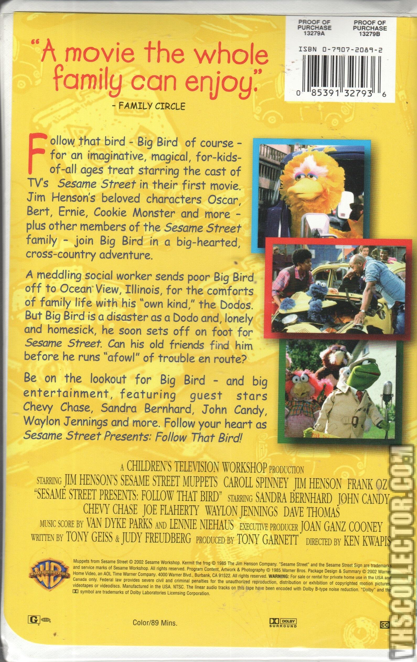 Sesame Street Presents Follow That Bird Vhscollectorcom