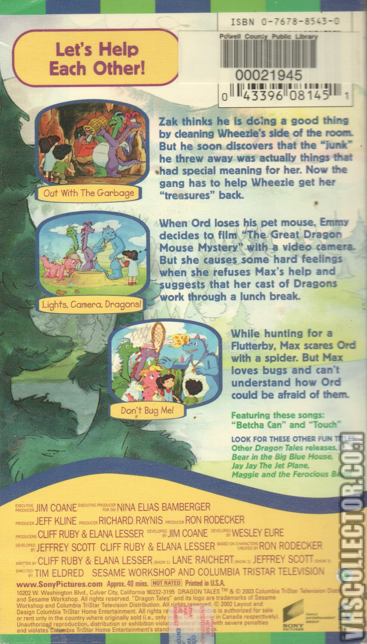 Dragon Tales Let S Help Each Other Vhscollector Com