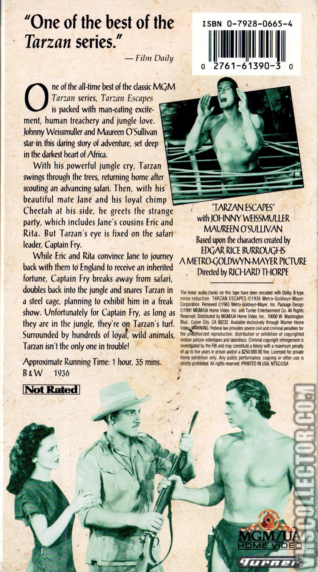 Tarzan Escapes   VHSCollector com