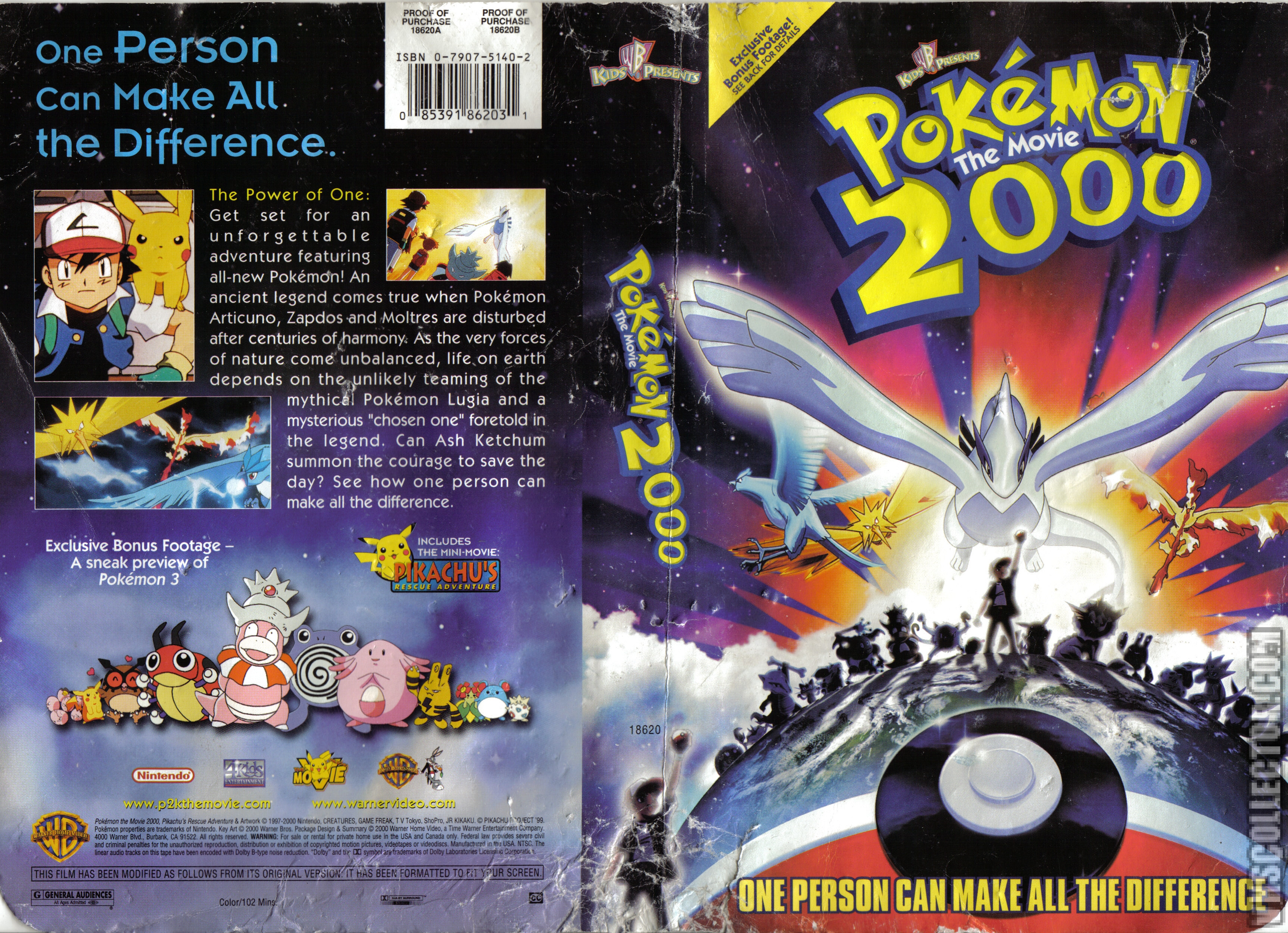 Pokemon The Movie 2000 Vhscollector Com