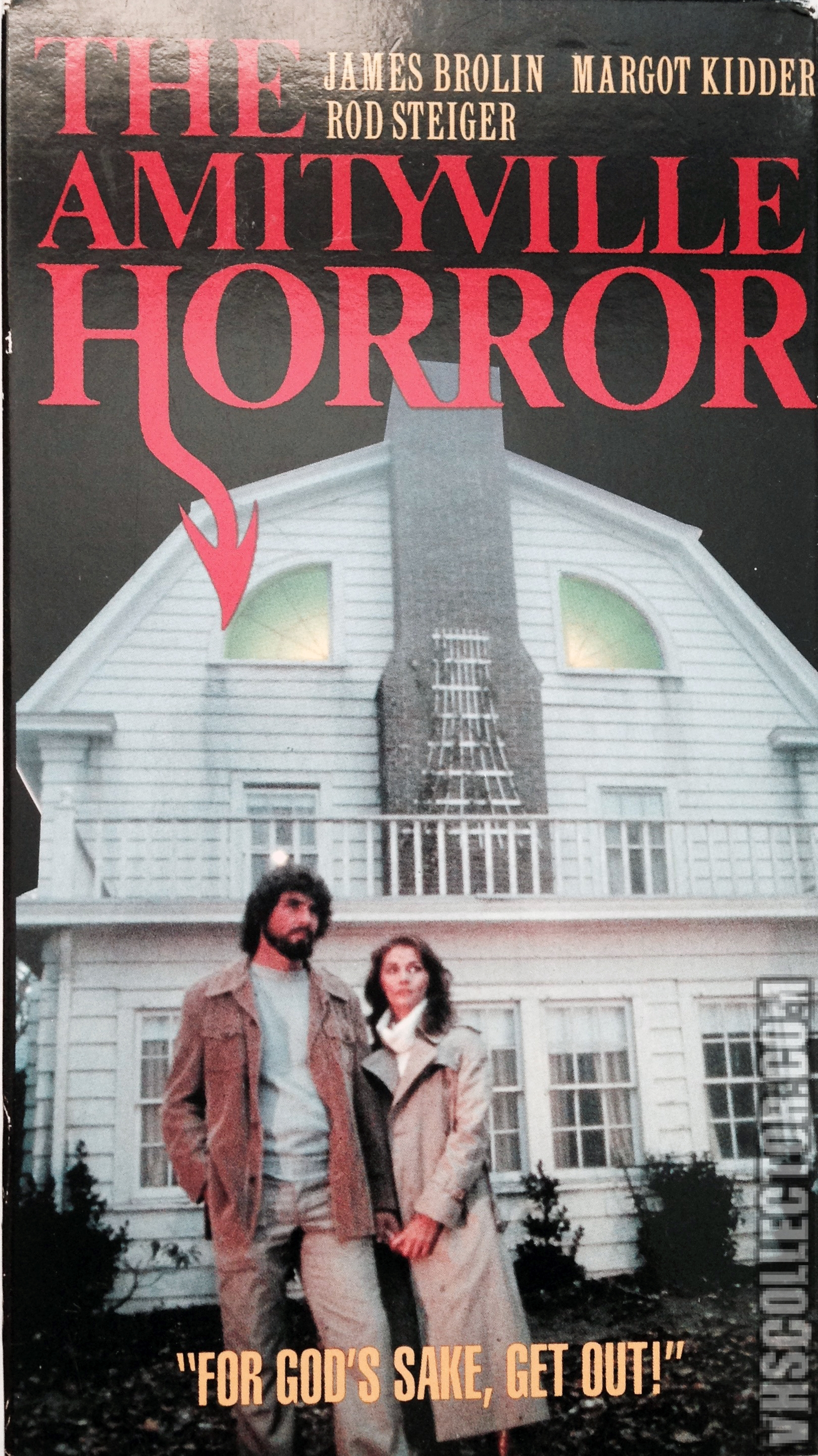 Amityville Horror Windows pinback button iconic VHS collector classic