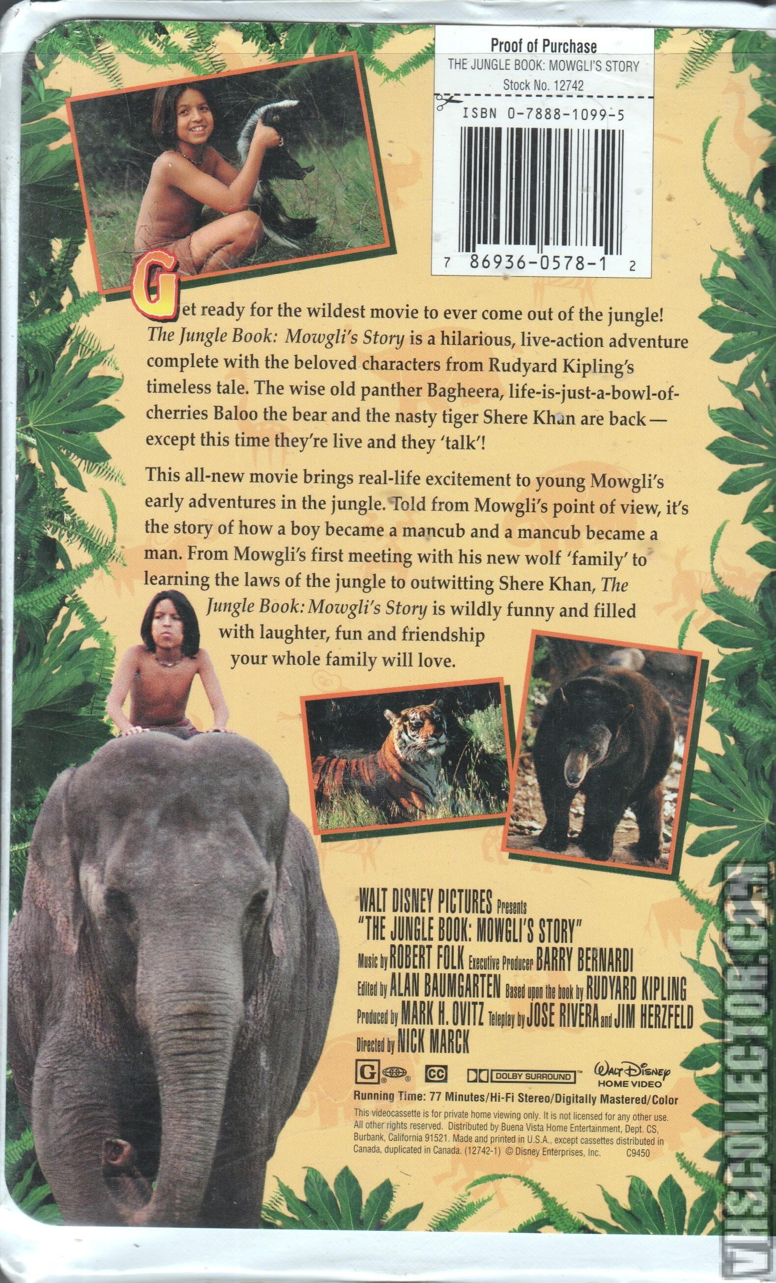 jungle book mowgli story