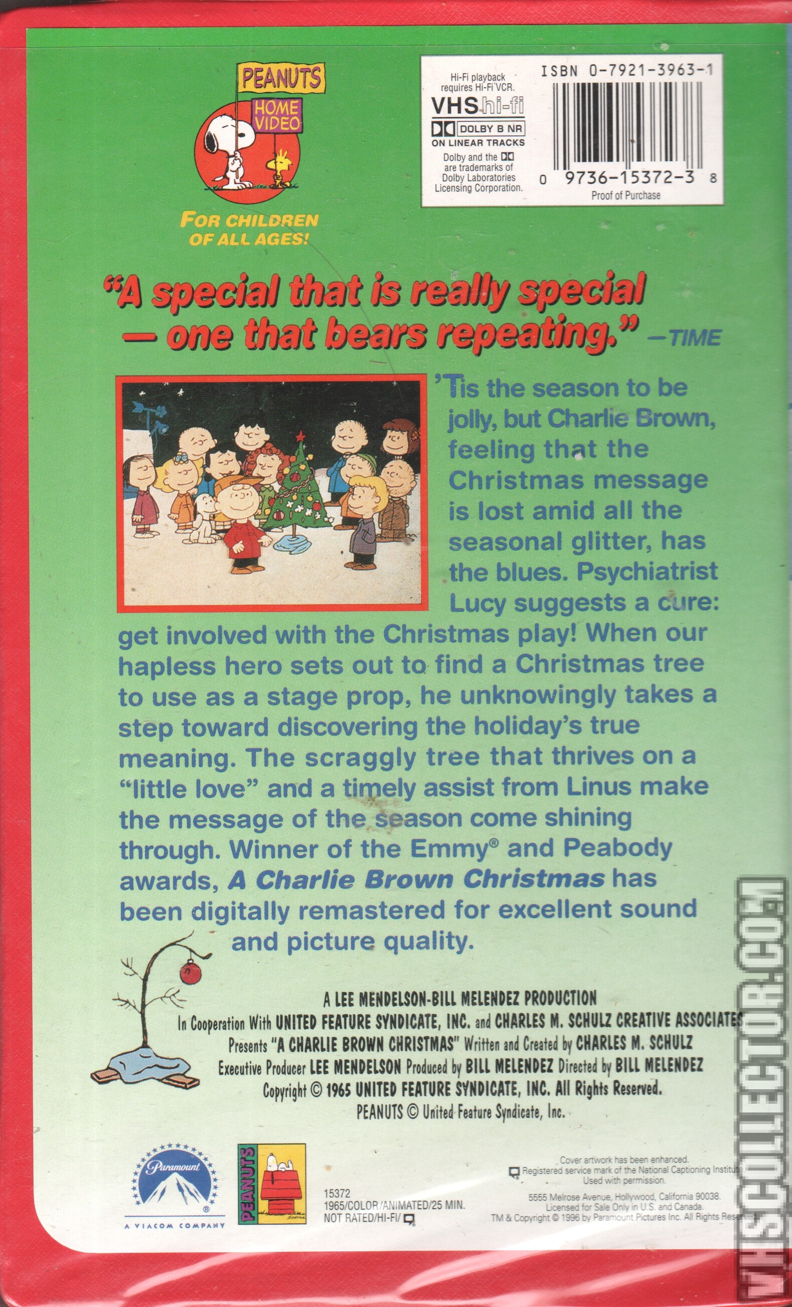 A Charlie Brown Christmas Vhs.A Charlie Brown Christmas Vhscollector Com