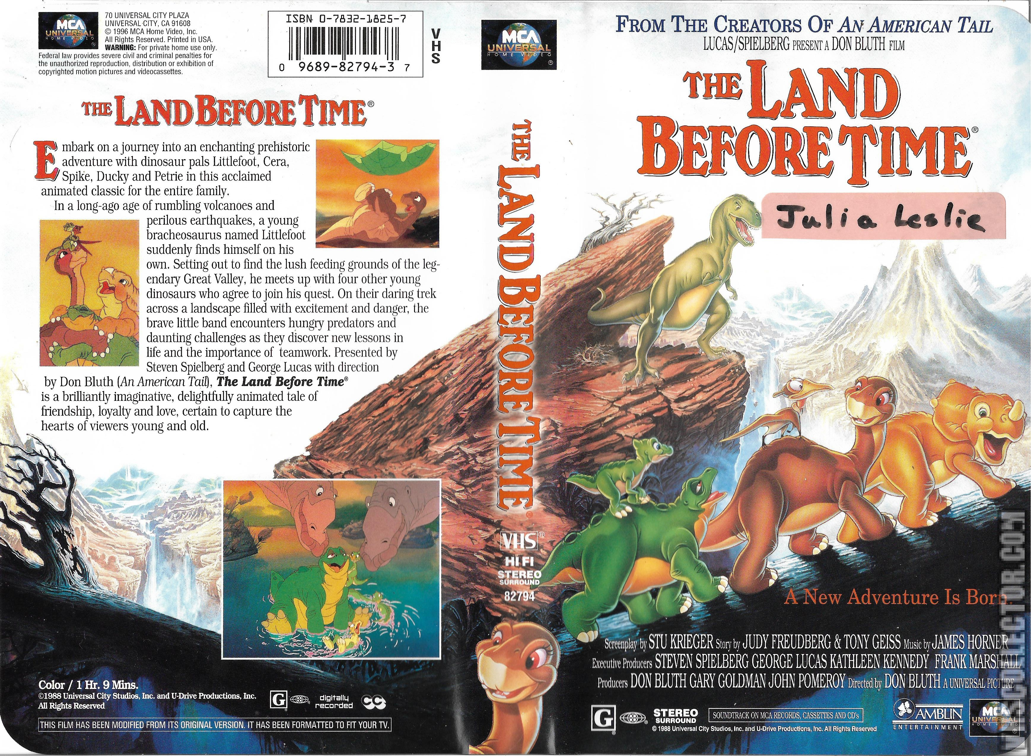 The Land Before Time Vhscollector Com