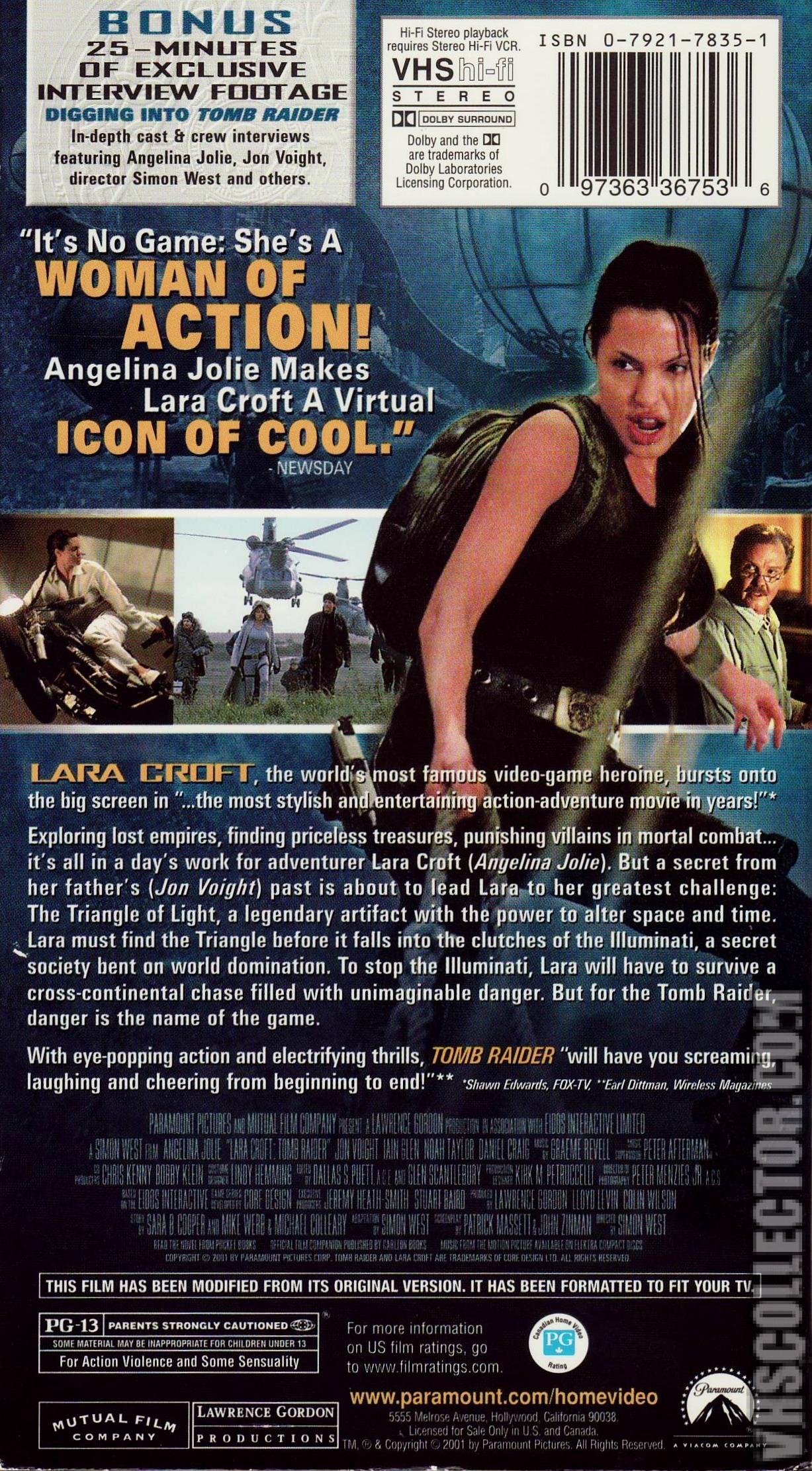 Laura Croft Tomb Raider Vhscollector Com