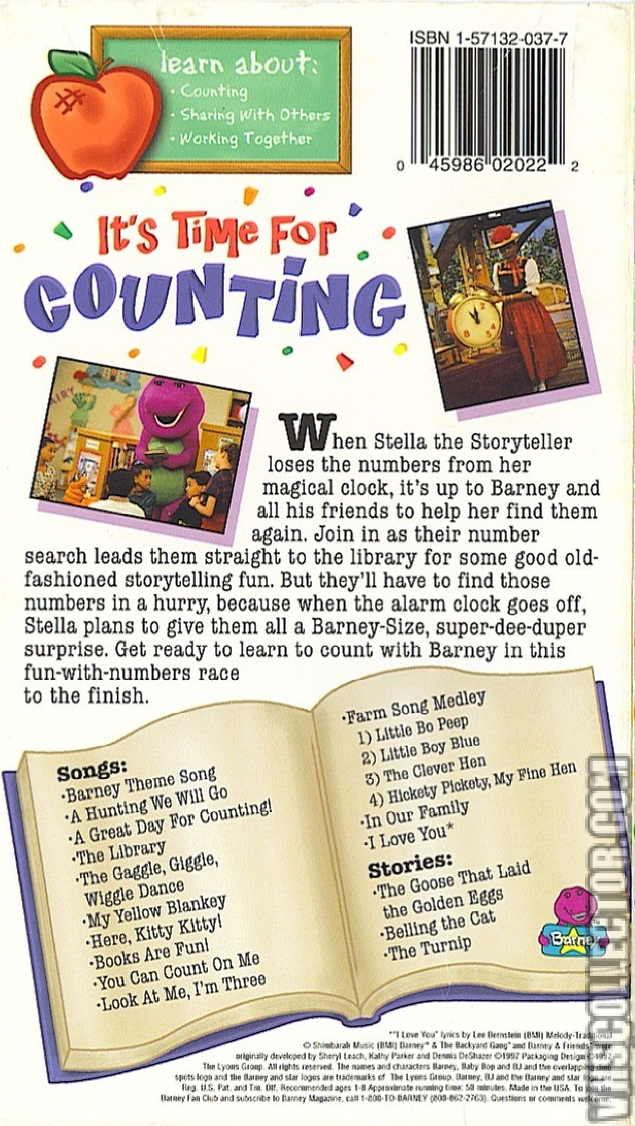 Barney: It's Time For Counting | VHSCollector com
