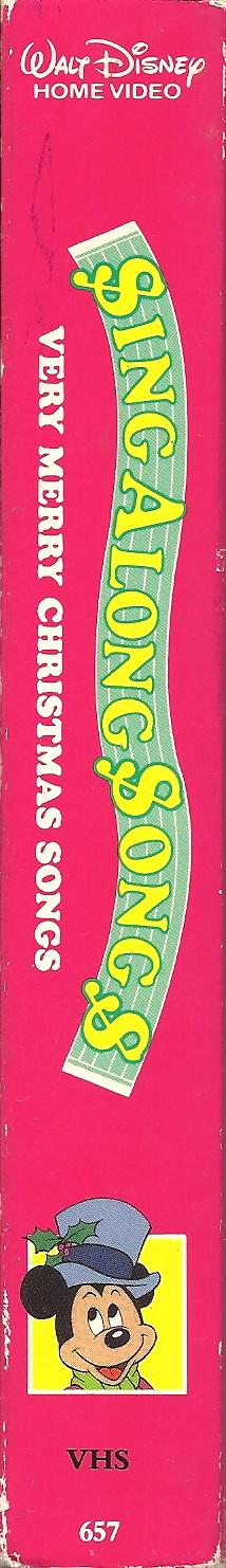 Disney Sing Along Songs Very Merry Christmas Songs 1988 Vhs.Disney S Sing Along Songs Very Merry Christmas Songs
