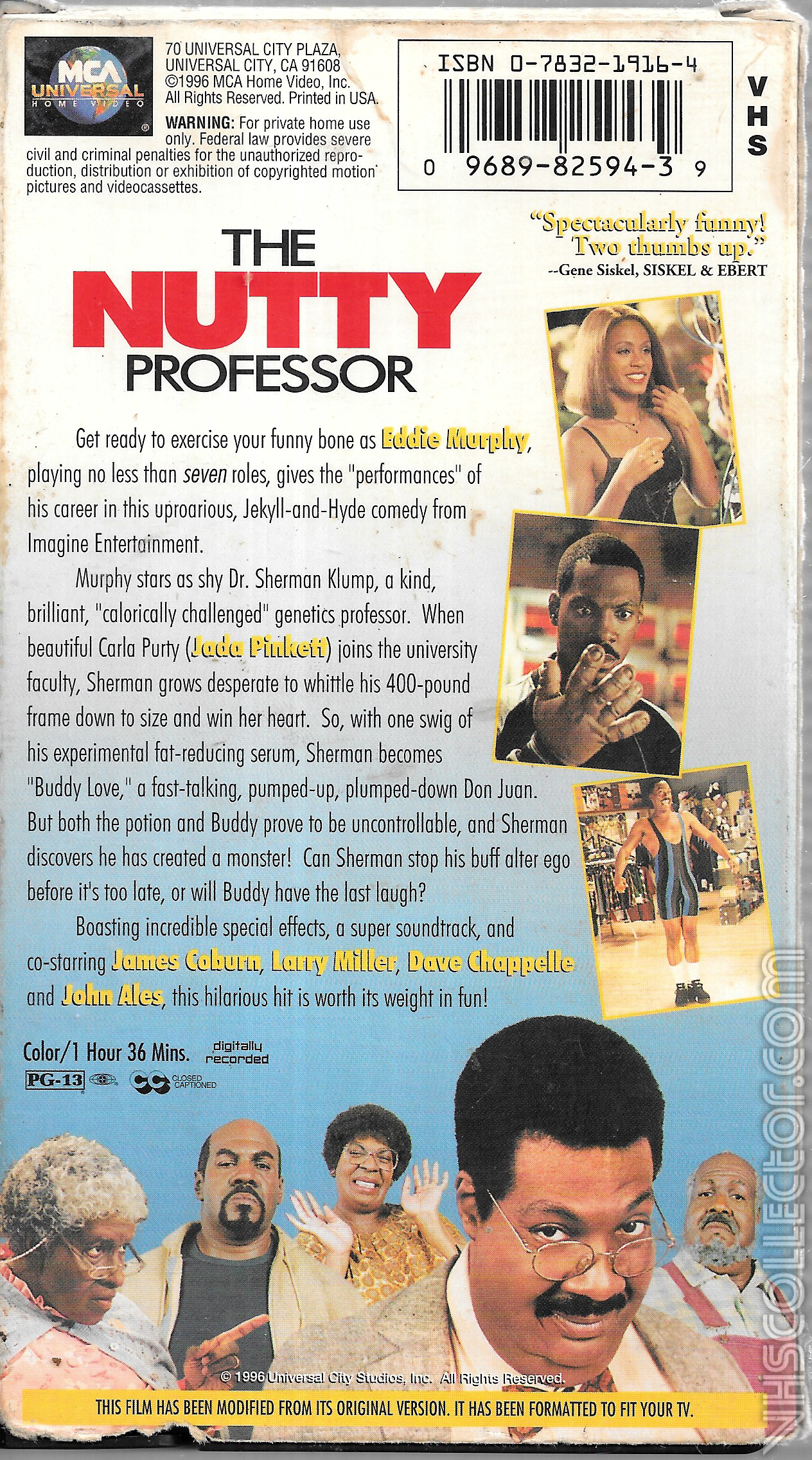 The Nutty Professor Vhscollector Com