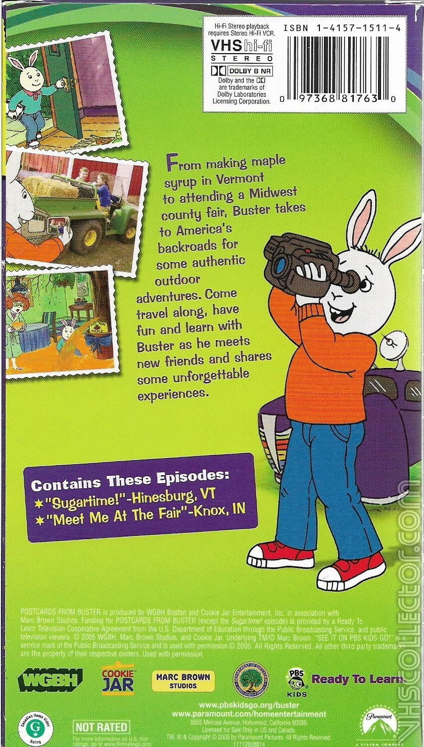 The Vcr From Heck Fifty Cartoons Week Tuesday 50: Postcards From Buster: Buster's Outdoor Journeys
