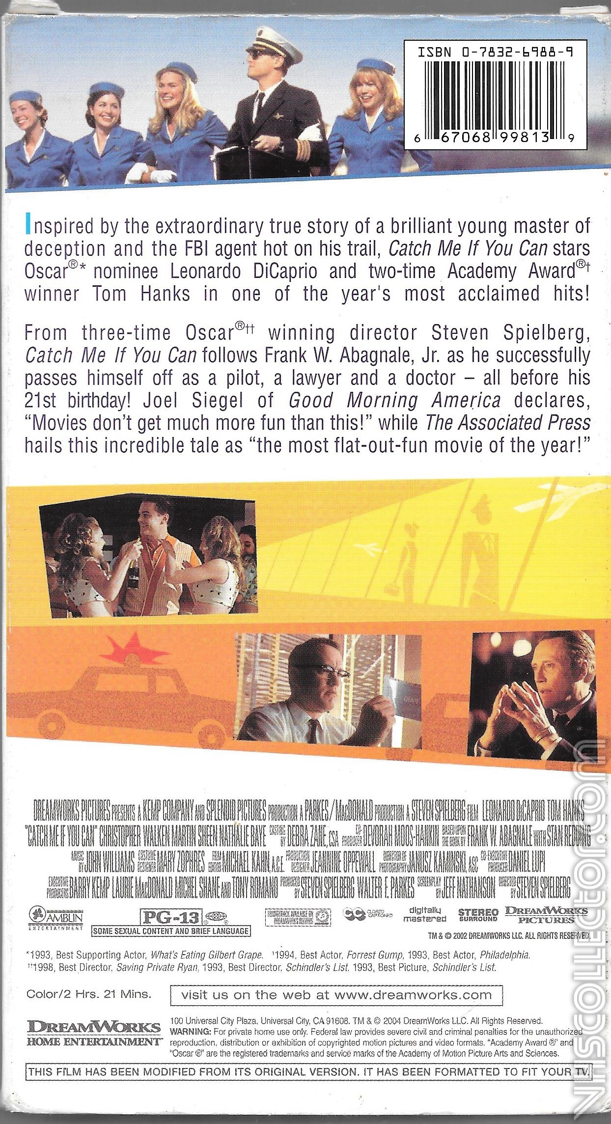 Catch Me If You Can Vhscollector Com