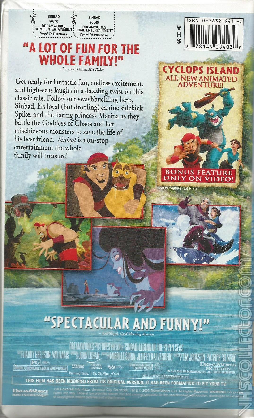Sinbad: Legend of the Seven Seas | VHSCollector.com
