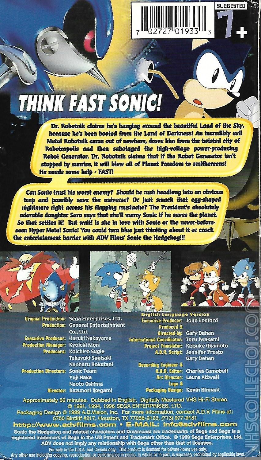 Sonic The Hedgehog The Movie Vhscollector Com