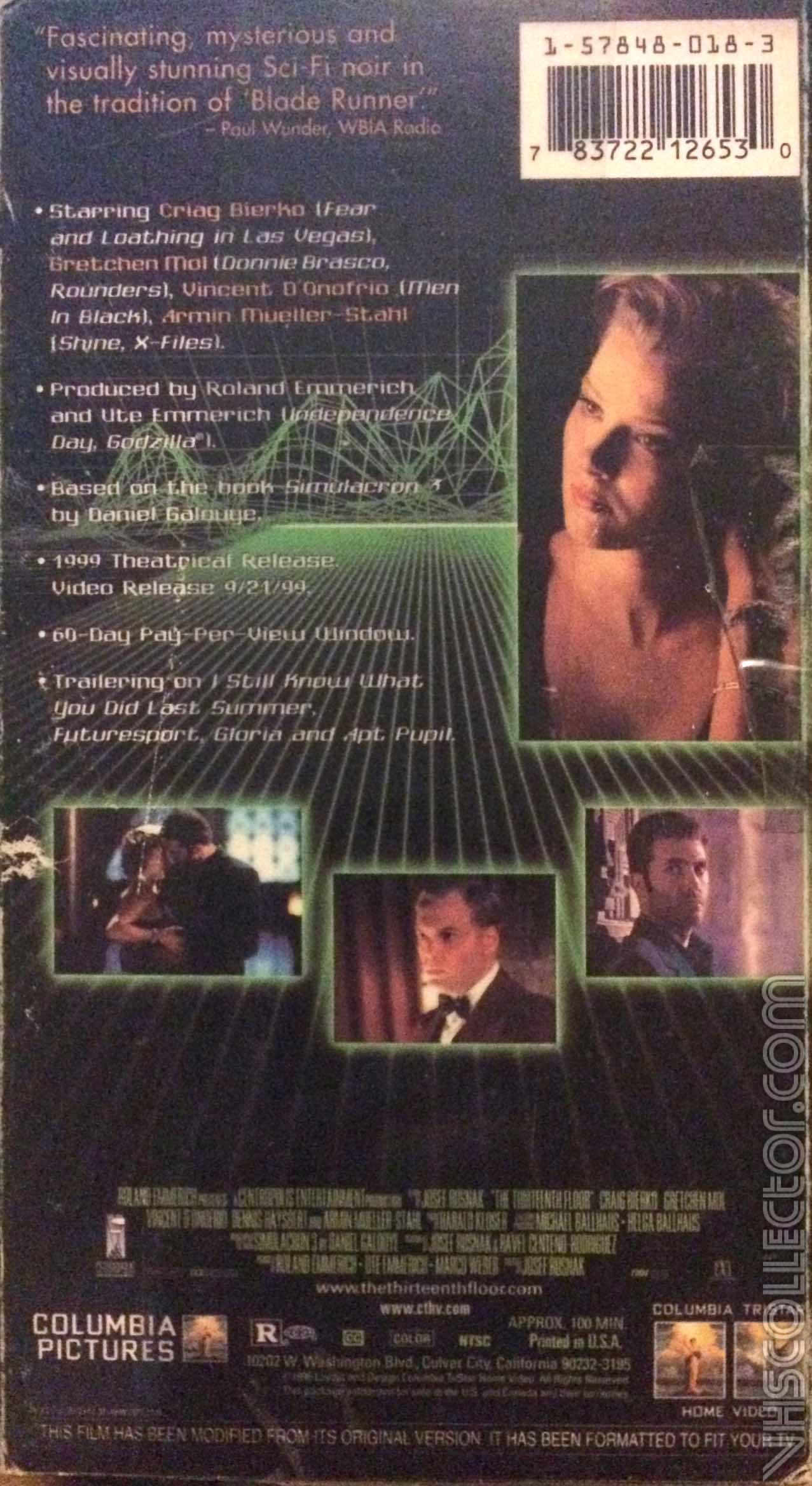 The Thirteenth Floor | VHSCollector.com