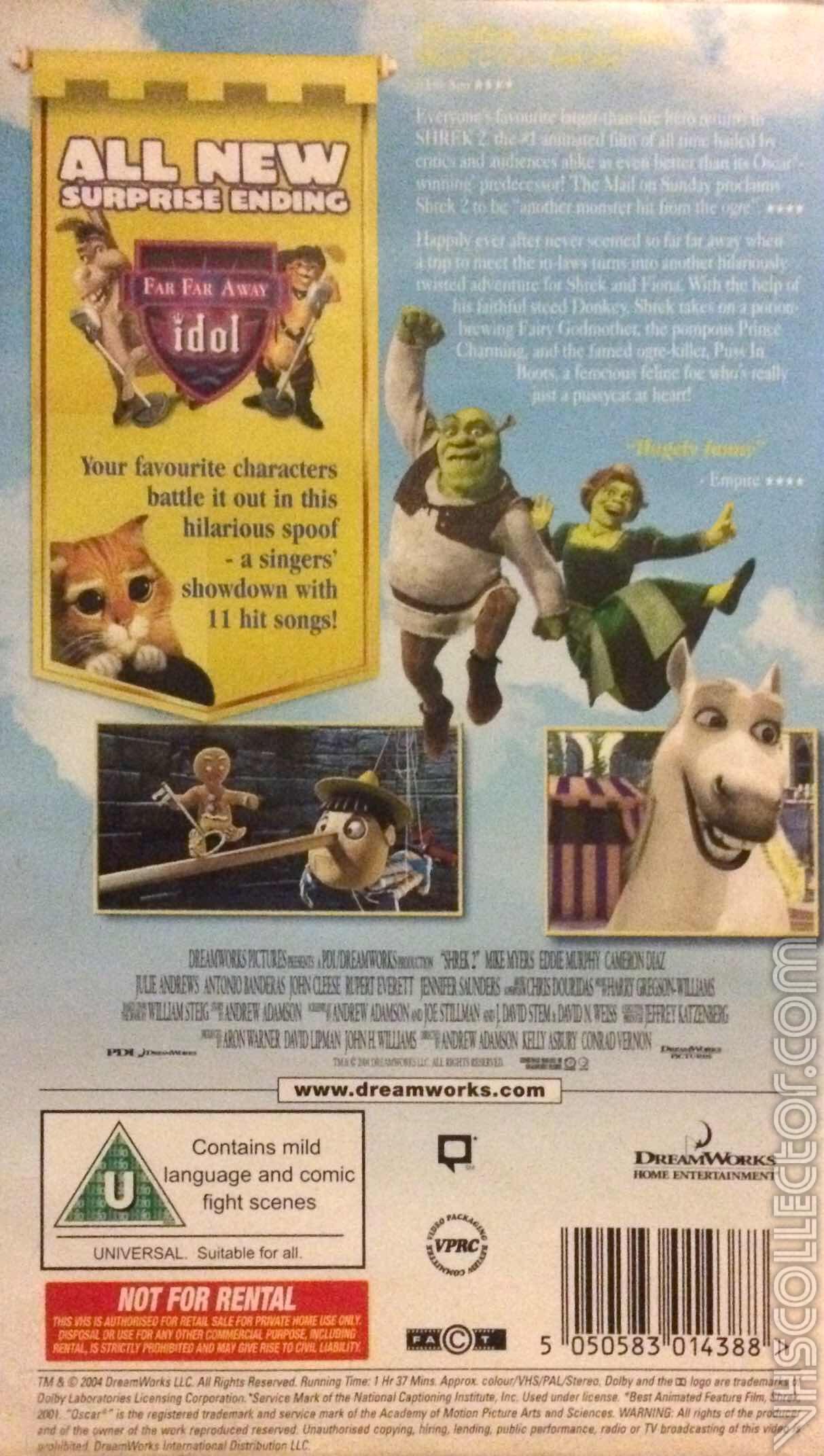 Shrek 2 Vhscollector Com